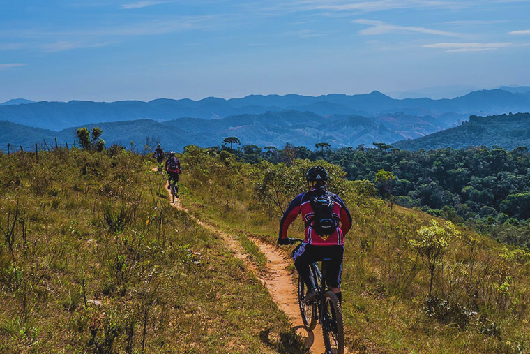 Exploring the hill country, dry zone and rural roads by mountain bike