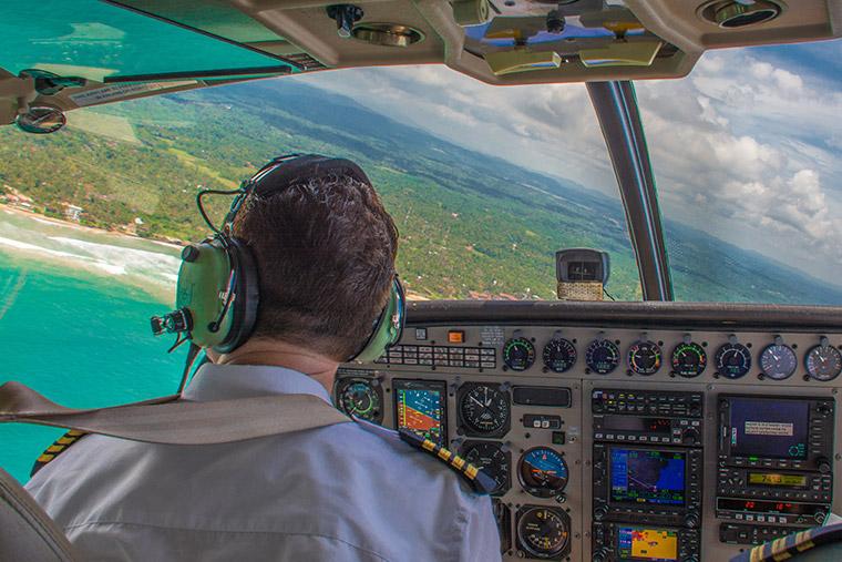 Fly over the central highlands of Sri Lanka
